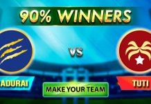 TUTI Patriots vs Madurai Panthers 20 july Match Preview