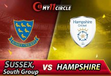 Hampshire vs Sussex South Group