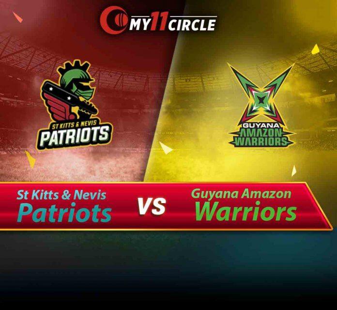 St Kitts and Nevis Patriots vs Guyana Amazon Warriors, CPL 2019