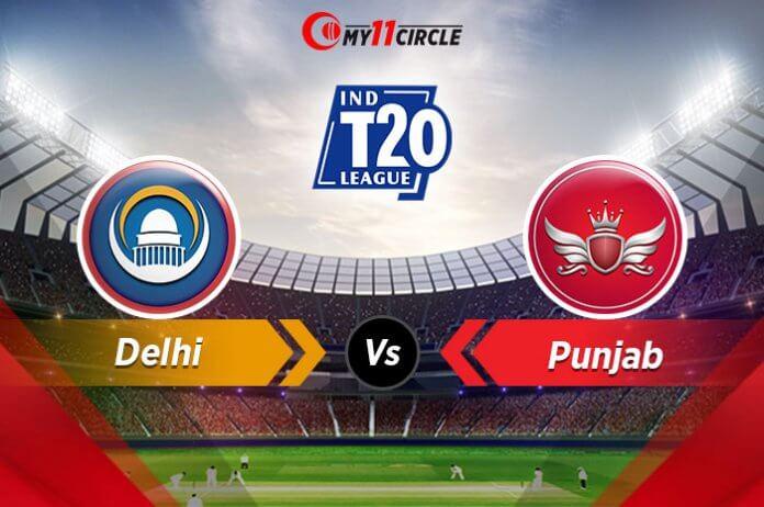 Delhi vs Punjab Indian t 20 league