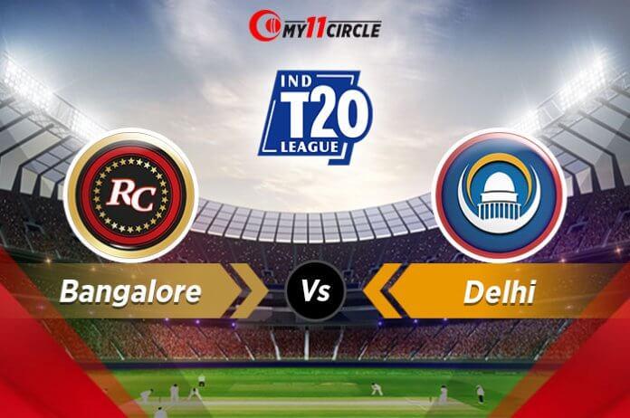 Bangalore-vs-Delhi Match Prediction