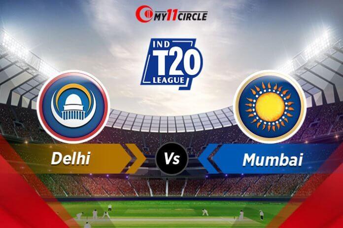 Delhi-vs-Mumbai t20 league
