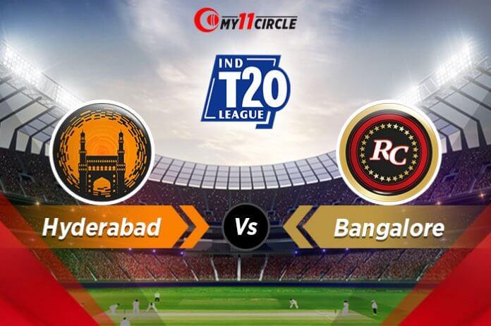 Hyderabad-vs-Bangalore t20 league