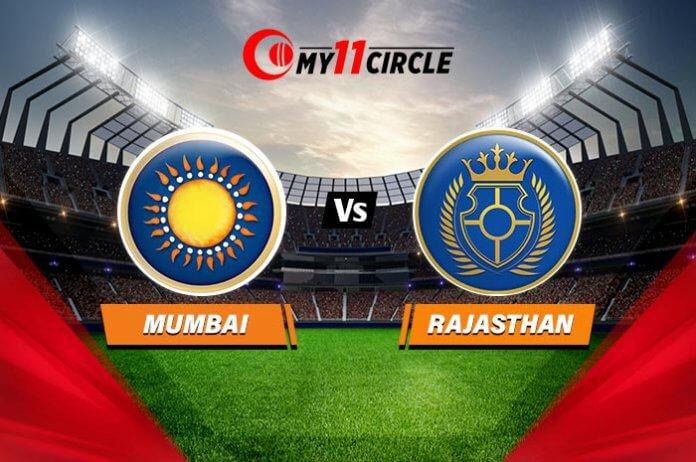 Mumbai vs Rajasthan, Match Prediction