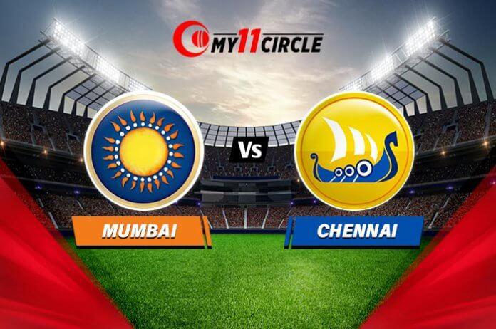 Mumbai vs Chennai, Indian T20 League Match prediction